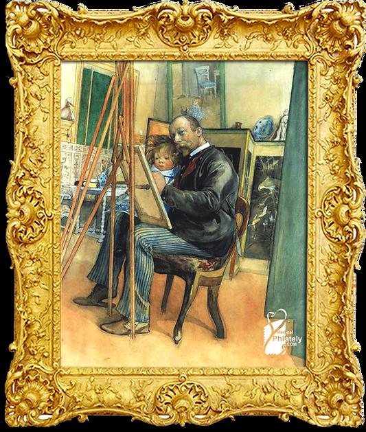 Mirror-image with Brita 1895 by Carl Lar