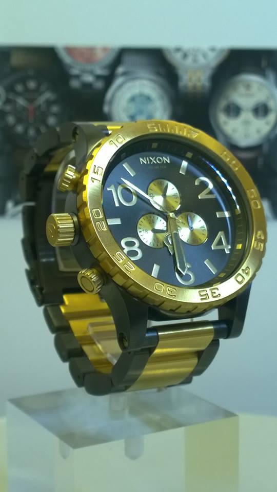 Nixon 51 30 Chrono Gunmetal Gold A083 595