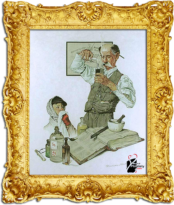 Medical Philately, postage, stamps, www.medicalphilately.com,The Prescription Norman Rockwell.png