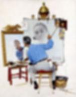 Triple-Self-Portrait-1960-Norman-Rockwel