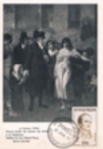 Philippe_Pinel_à_la_Salpêtrière_postcard, Medical Philately, postage, stamps, www.medicalphilately.com,