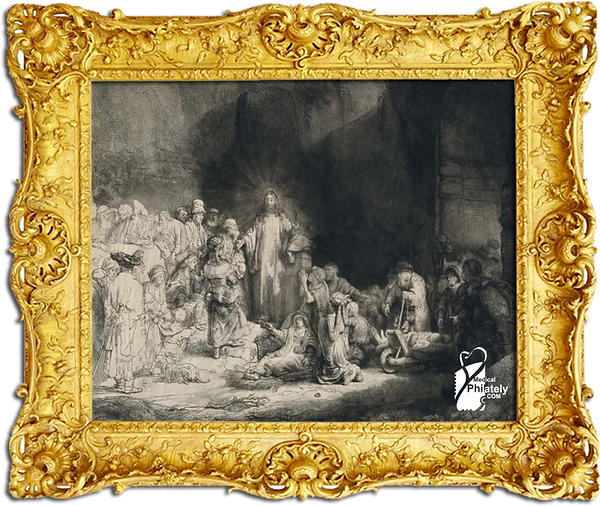 Medical Philately, www.medicalphilately.com,  Christ Healing the Sick by Rembrandt.png