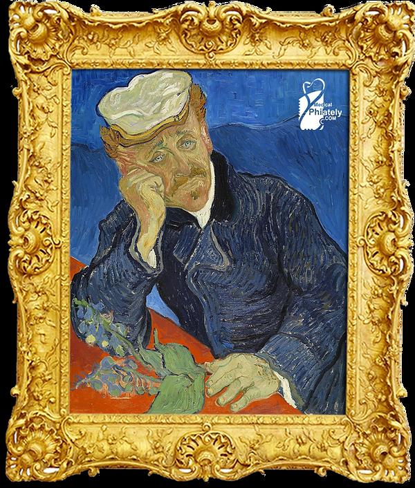 Medical Philately, www.medicalphilately.com, Portrait of Dr. Gachet by Vincent van Go