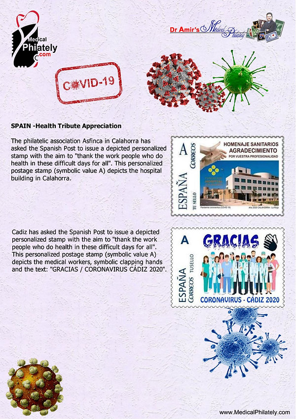 covid Spain_medical_philately_postage_st