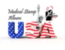 USA logo,www.MedicalPhilately.com,album.