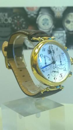 Akribos XXIV AK628YG Quartz Chronograph Brown Leather Strap Watch