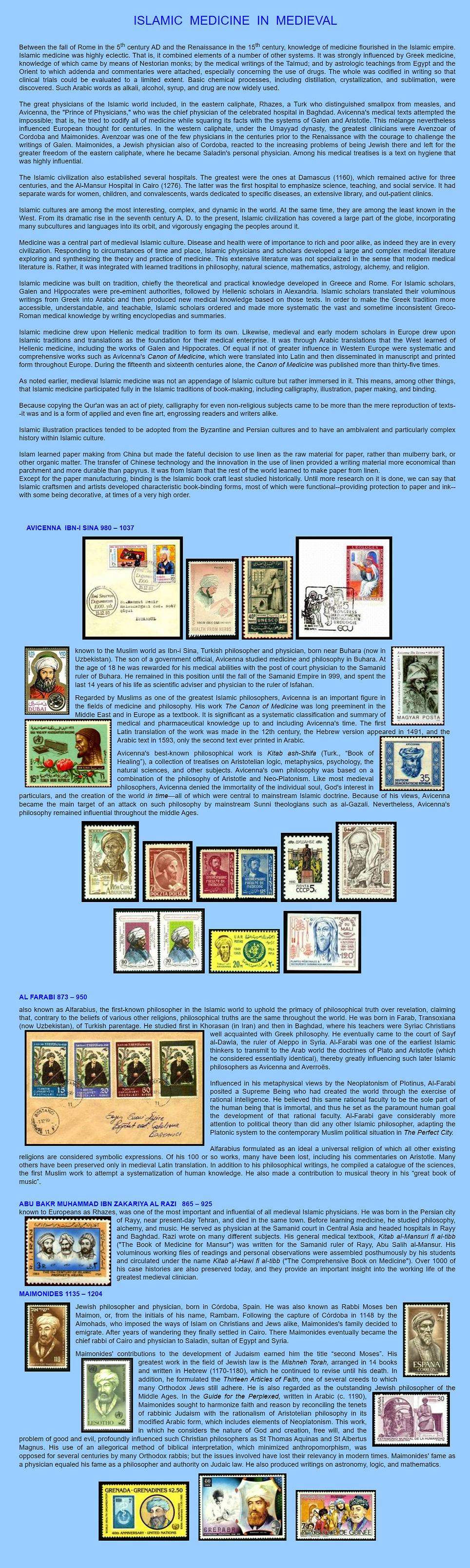 ISLAMIC  MEDICINE  IN  MEDIEVAL.png, Medicine-on-stamps, medicine, postage, postal, collecting, art, history, Medical Philately, Filatelia Médica, Filateli medis, Медицинская Филателия, Filatelia medica, 医療切手, 集邮医学, 의학적으로, Medisch filatelie, medizinische Philatelie, Dr Amir Monir ,Philatélie médicale, Orvosi Filatélia, 集郵醫學, Tıbbi Filateli, #filatelia ,#philately ,#stamp #stampcollection, #medicalphilately ,#medicine_on_stamps ,#art ,#thematics ,#philatelic #timbre, #philatélie ,#HistoryOfMedicine, #medicine #History, #postalstamps ,#artsinhealth ,Medikal na Philately, Falsafah Perubatan, Ιατρική Φιλοτελία, پزشکی فیلاته, طوابع طبية