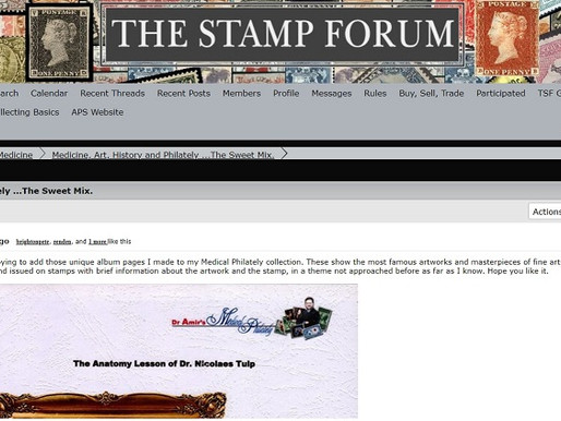 "Medical Philately joined the ""Stamp Forum"""