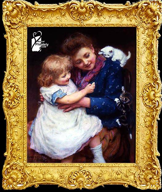 Arthur John Elsley - Playtime Painting,w