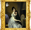 Anne Pauline Dufour-Feronce with her son