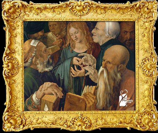 Medical Philately, www.medicalphilately.com, Christ_among_the_Doctors_by_Albrecht_Dür