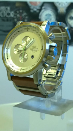 Vestal Plexi PLE034 Watch Duo Brown Leather and Stainless Steel B