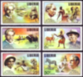 Medical Philately, postage, stamps, www.medicalphilately.com,albert_schweitzer liberia_1975_ medical