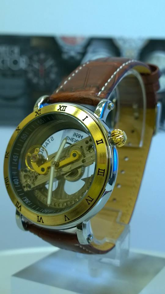 Steampunk Skeleton Bridge Automatic Mechanical Watch