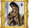 mother lead her child by hans erni,www.m