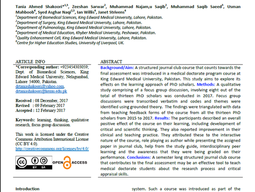 First EJME Article