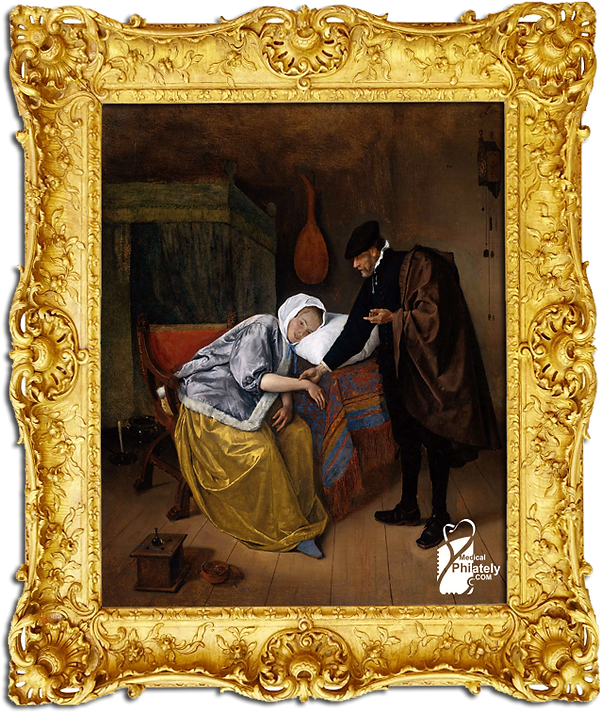 Medical Philately, postage, stamps, www.medicalphilately.com,The sick woman.png