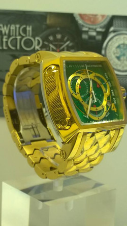 Invicta S1 Rally Yellow Gold Green Dial