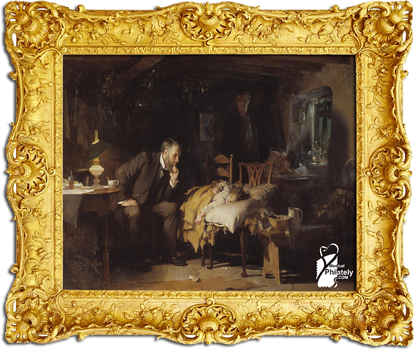 Medical Philately, postage, stamps, www.medicalphilately.com,The Doctor by Luke Fildes.png