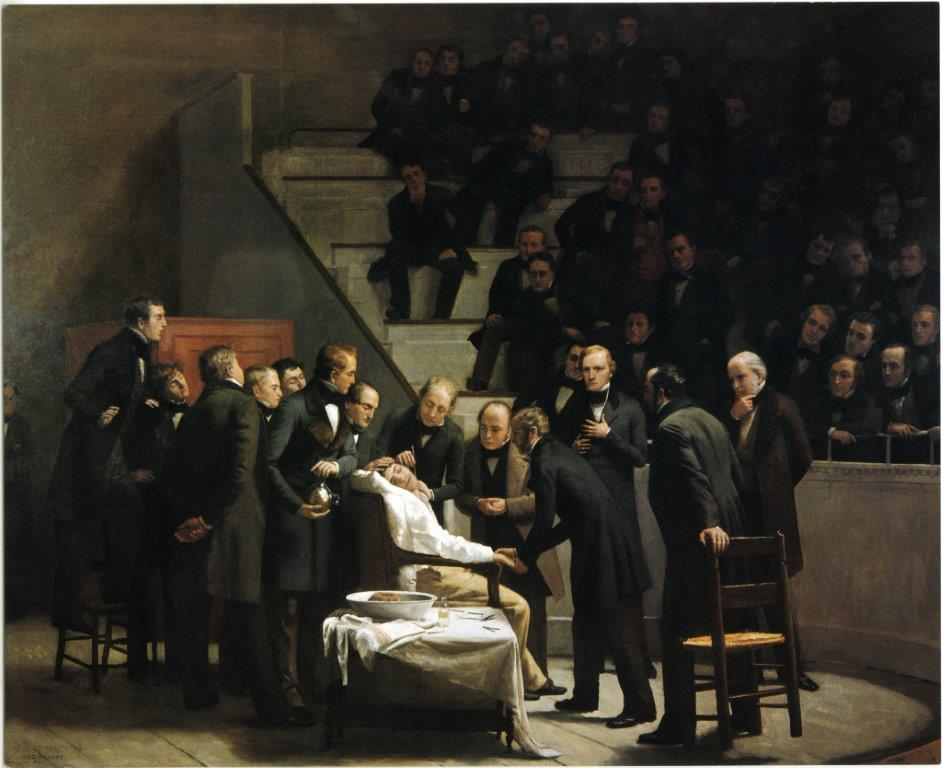 First Operation Under Ether Anaesthesia painting, 1846