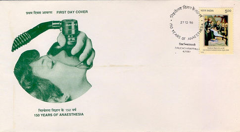 anaethesia,medical philately,www.medical
