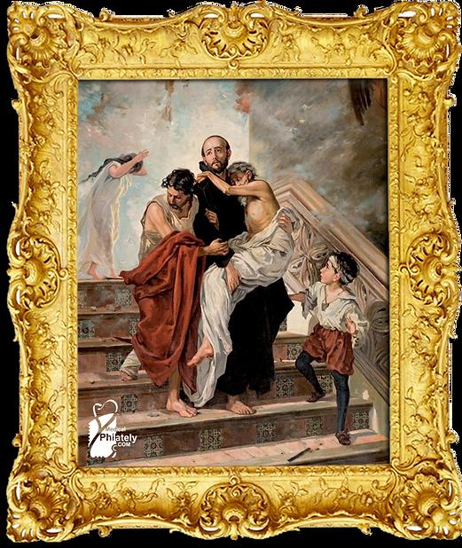 Medical Philately, www.medicalphilately.com, Patron Saints of the Sick  stamps 2 fram