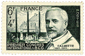 Medical Philately, postage, stamps, www.medicalphilately.com,Calmette_1948_GF medical philately.png