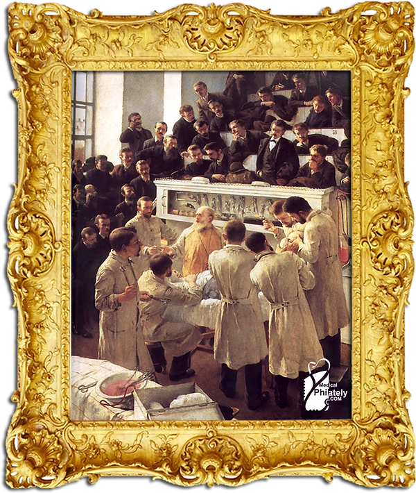 Medical Philately, postage, stamps, www.medicalphilately.com,Theodor Billroth Operating.png
