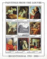 Guyana-1993-Dutch-French-Paintings-Louvr