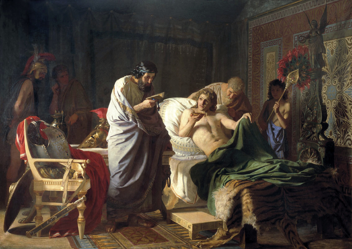 Confidence of Alexander the Great to the doctor Philip by Henry Semiradsky , 1870