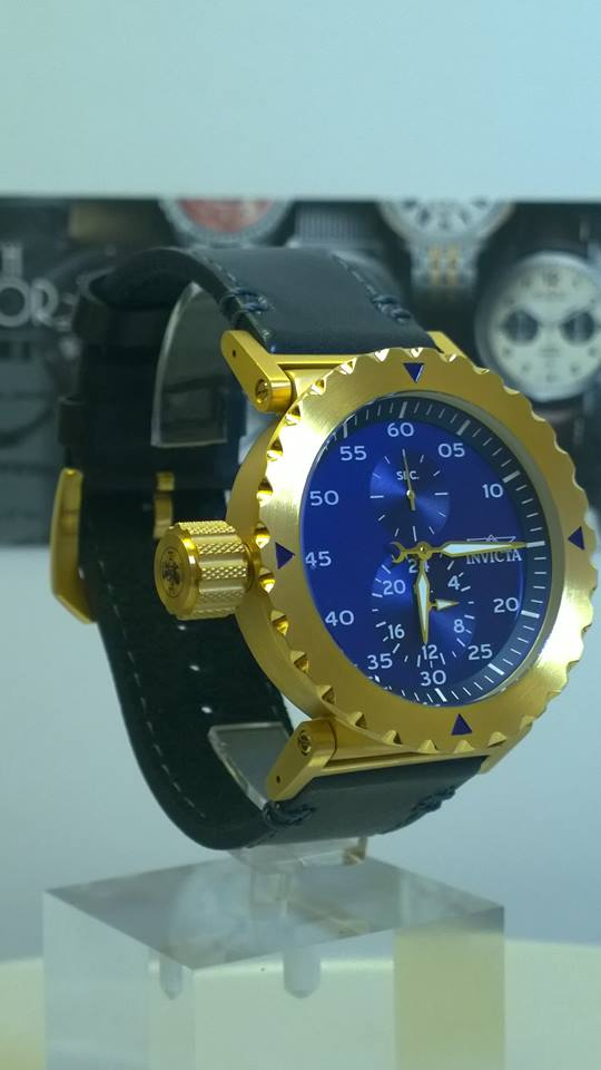 Invicta 14641 lefty I Force Blue Dial Leather Strap
