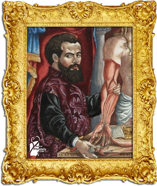 Medical Philately, postage, stamps, www.medicalphilately.com,Andreas Vesalius.png