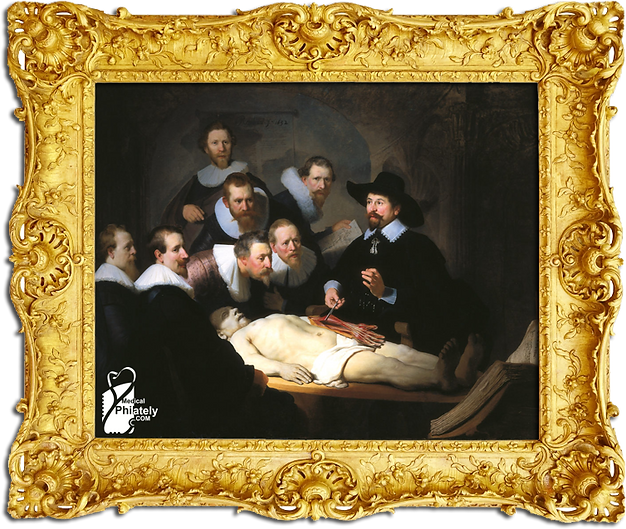 Medical Philately, postage, stamps, www.medicalphilately.com,The Anatomy Lesson of Dr. Nicolaes Tulp.