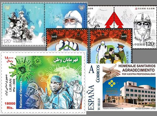 Medical Philately, COVID-19 (Corona Virus) on Stamps Worldwide