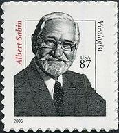 Medical Philately, postage, stamps, www.medicalphilately.com,Albert-Sabin (usa).jpg