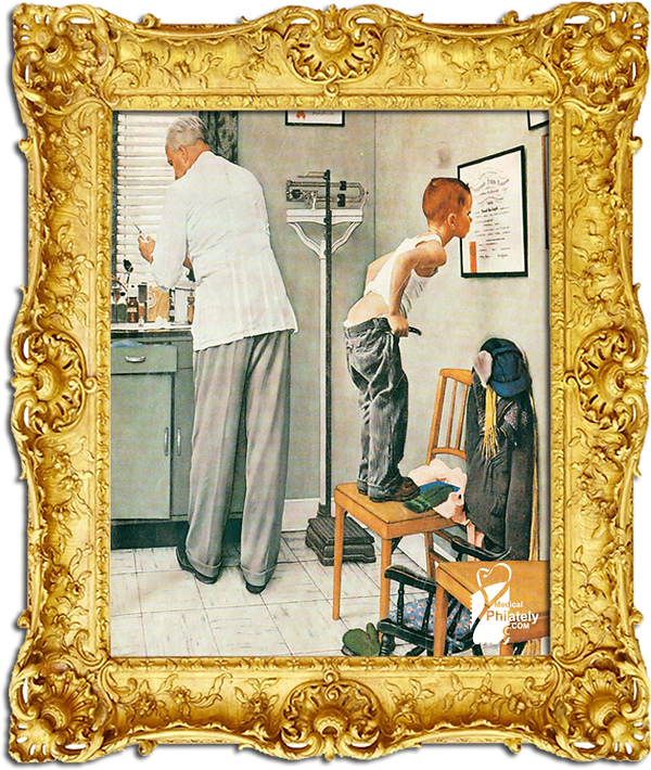 Medical Philately, postage, stamps, www.medicalphilately.com,The_Doctor's_Office_Norman_Rockwell.png