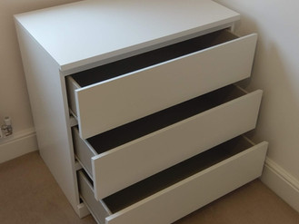 THE MALM CHEST OF DRAWERS FROM IKEA - BUILT IN LLANELLI, SWANSEA, WALES