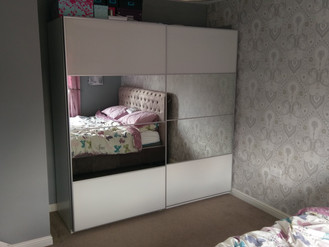 Pax Wardrobe with Lights from Ikea - Assembled in Coed Darcy, Llandarcy, Swansea