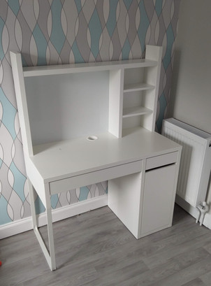 IKEA MICKE DESK WITH ADD-ON - ASSEMBLED IN LLANELLI BY FLAT PACK SWANSAE