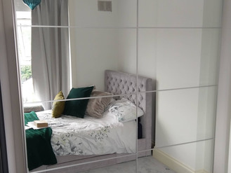IKEA PAX WARDROBE WITH SLIDING MIRROR DOORS - ASSEMBLED IN NEATH BY FLAT PACK SWANSEA