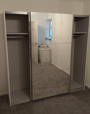 PAX/AULI SLIDING DOOR WARDROBE ASSEMBLED IN HENDY, LLANELLI, CARMARTHENSHIRE - BY FLAT PACK SWANSEA