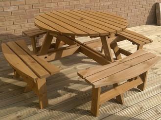Assembling Garden Furniture in Gorseinon, Swansea - 8-Seater Garden Picnic Bench