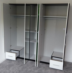 5 DOOR WARDROBE FROM VERY.CO.UK - FURNITURE ASSEMBLED BY FLAT PACK SWANSEA