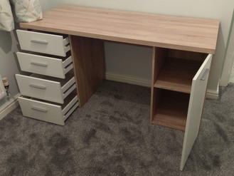 Ikea Malm desk, Trago Mills Norfolk desk, and Ikea Brimnes dressing table - Assembly by Flat Pack Sw