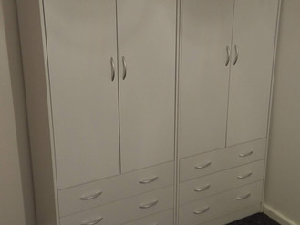 2 DOORS 3 DRAWER WARDROBE - ASSEMBLED BY FLAT PACK SWANSEA IN NEATH PORT TALBOT