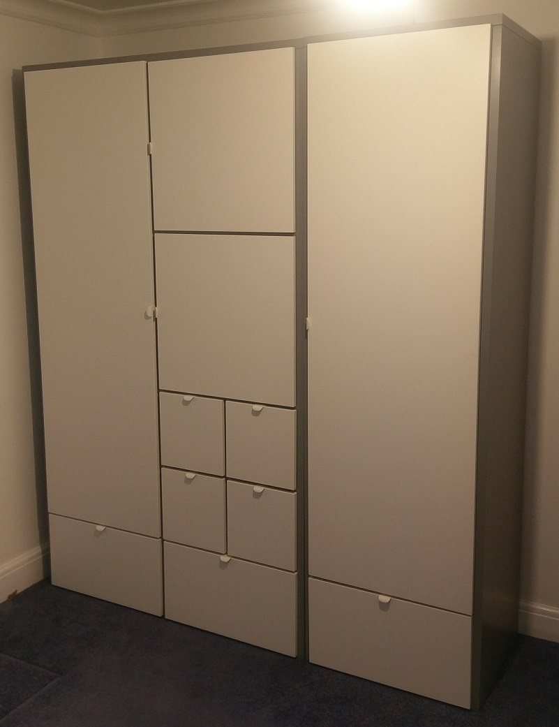 the visthus wardrobe from ikea assembled in sketty swansea by flat pack swansea flat pack. Black Bedroom Furniture Sets. Home Design Ideas