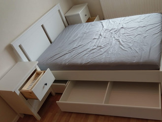 The New Ikea Bed and Hemnes Bedside Tables - Furniture Assembled in Swansea by Flat Pack Swansea
