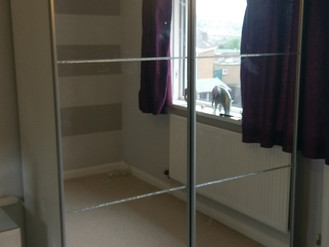 Next Medium 150 Crystal Mirror Sliding Door Wardrobe - Assembled in Morriston, Swansea
