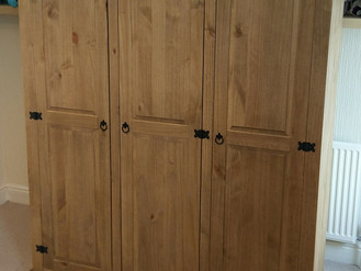 The Corona 3-Door Wardrobe - Assembled in Clydach, Swansea