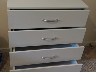 Ikea Hemnes Drawers, Bed and Shoe Tidy, plus B&M Sink Hide and Next Table and Benches - Assemble